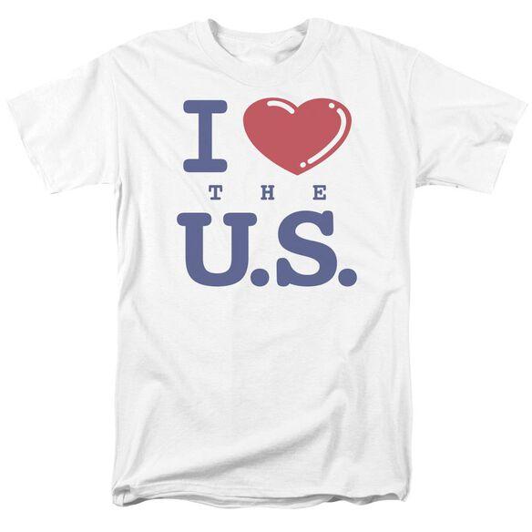 I Love The U.S. Short Sleeve Adult T-Shirt