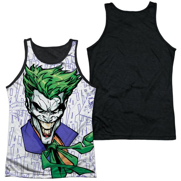 Batman Laugh Clown Laugh Adult Poly Tank Top Black Back