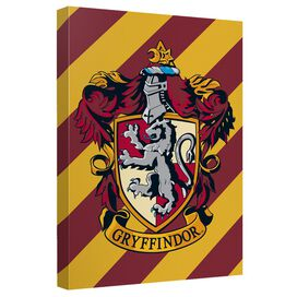 Harry Potter Gryffindor Crest Canvas Wall Art With Back Board
