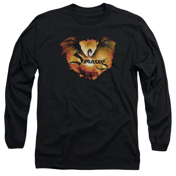 Hobbit Reign In Flame Long Sleeve Adult T-Shirt