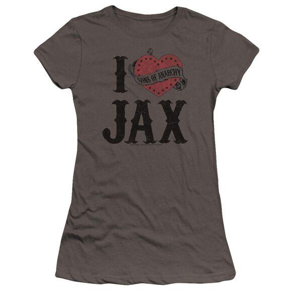 Sons Of Anarchy I Heart Jax Premium Bella Junior Sheer Jersey