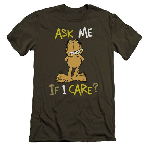 Garfield Ask Me If I Care Premuim Canvas Adult Slim Fit Military