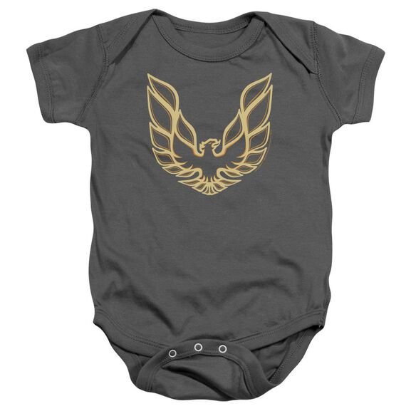 Pontiac Iconic Firebird Infant Snapsuit Charcoal