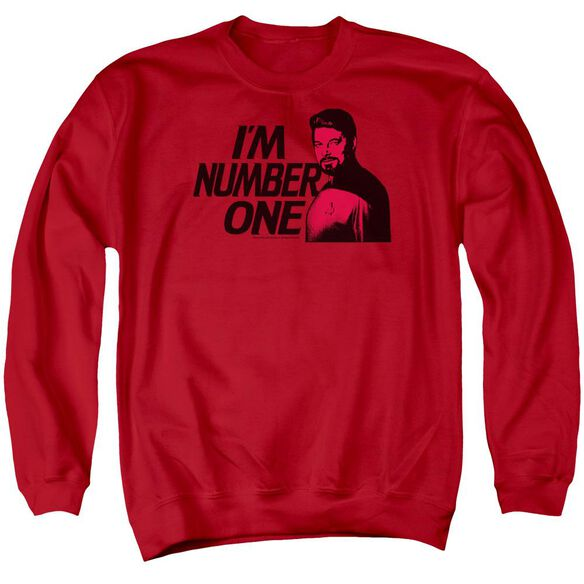 Star Trek Im Number One - Adult Crewneck Sweatshirt - Red