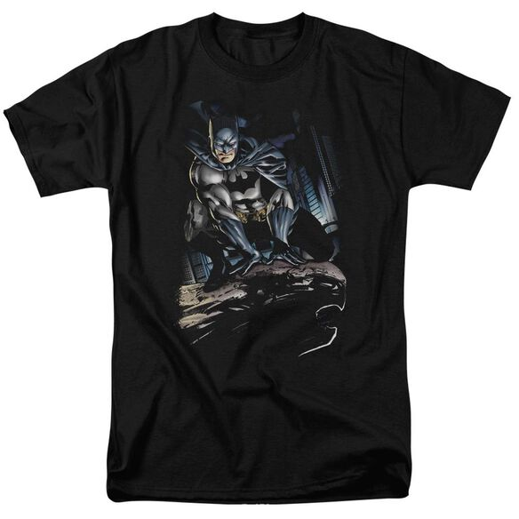 Batman Perched Short Sleeve Adult T-Shirt