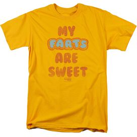 Farts Candy Sweet Farts Short Sleeve Adult Gold T-Shirt