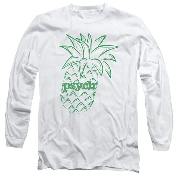 Psych Pineapple Long Sleeve Adult T-Shirt
