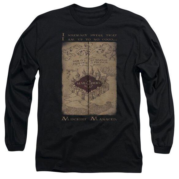 Harry Potter Marauders Map Words Long Sleeve Adult T-Shirt