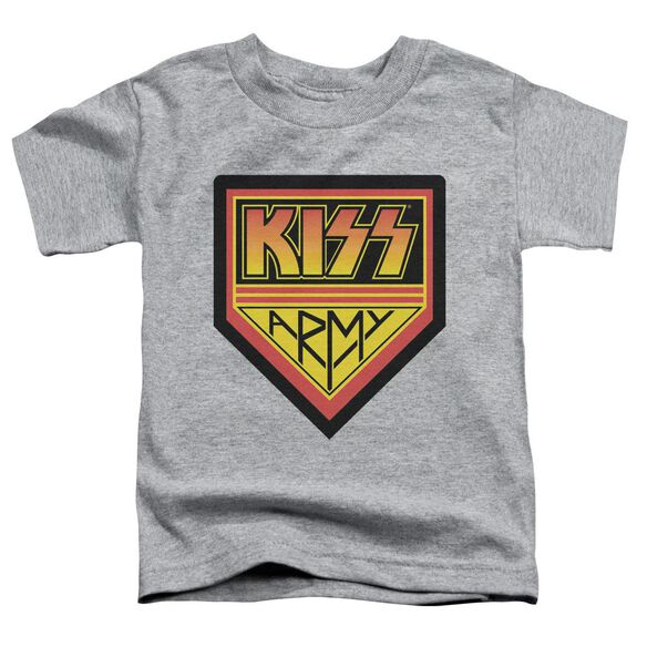 Kiss Army Logo Short Sleeve Toddler Tee Athletic Heather T-Shirt
