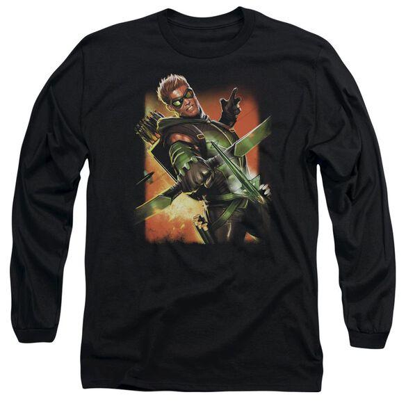 Jla Green Arrow #1 Long Sleeve Adult T-Shirt