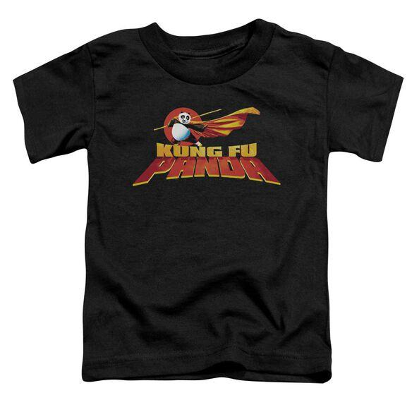 Kung Fu Panda Logo Short Sleeve Toddler Tee Black T-Shirt