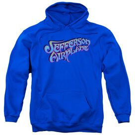 Jefferson Airplane Gradient Logo Adult Pull Over Hoodie Royal