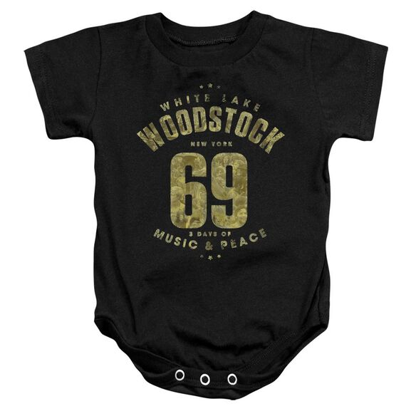 Woodstock White Lake Infant Snapsuit Black