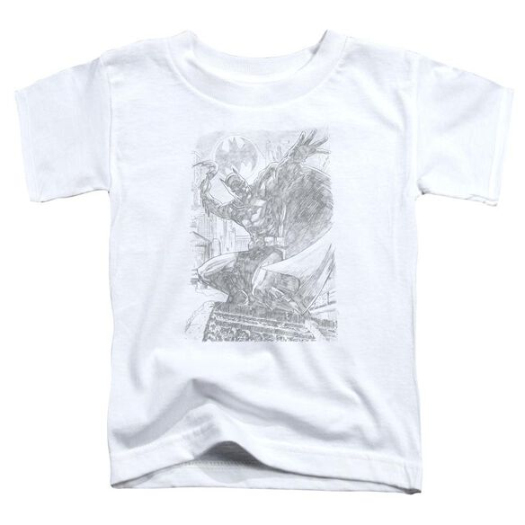 Batman Pencil Batarang Throw Short Sleeve Toddler Tee White Sm T-Shirt