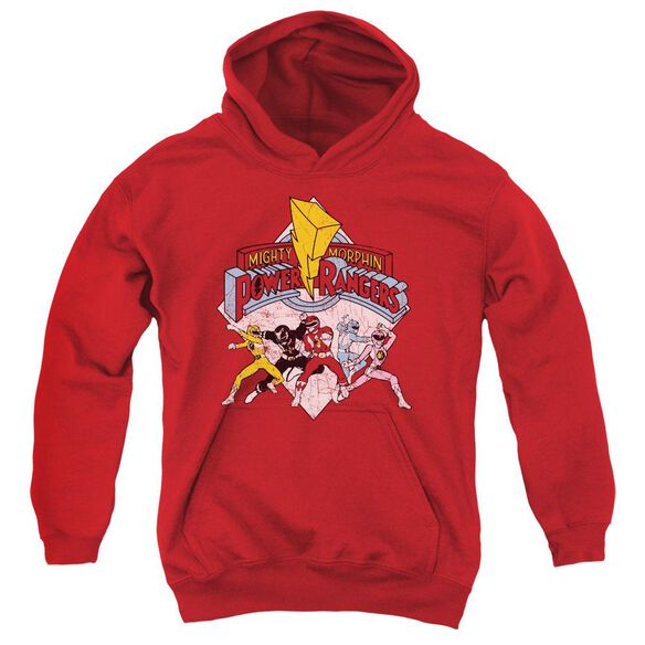 Power Rangers Retro Rangers Youth Pull Over Hoodie
