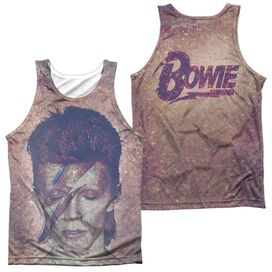 David Bowie Glam (Front Back Print) Adult Poly Tank Top