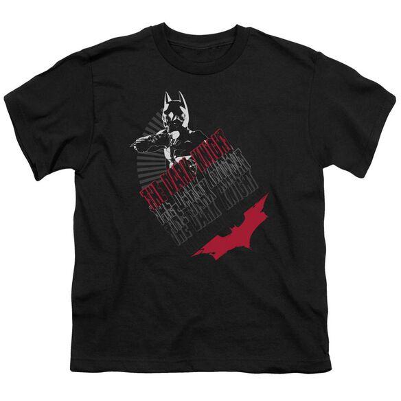Dark Knight Stance Short Sleeve Youth T-Shirt