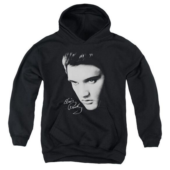 Elvis Presley Face Youth Pull Over Hoodie