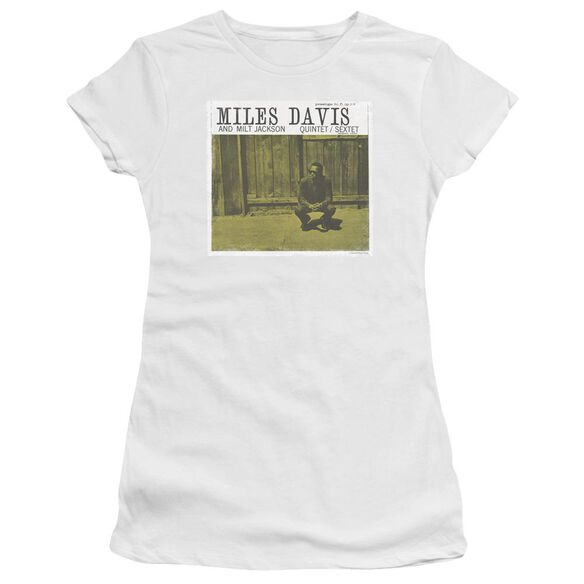 Miles Davis Miles And Milt Short Sleeve Junior Sheer T-Shirt
