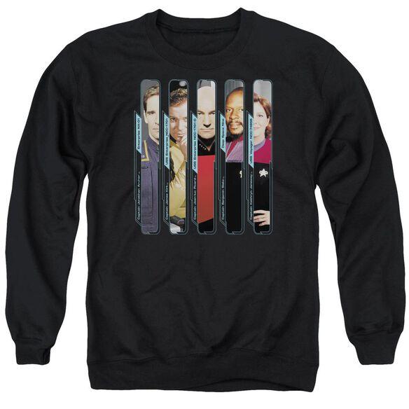 Star Trek The Captains Adult Crewneck Sweatshirt