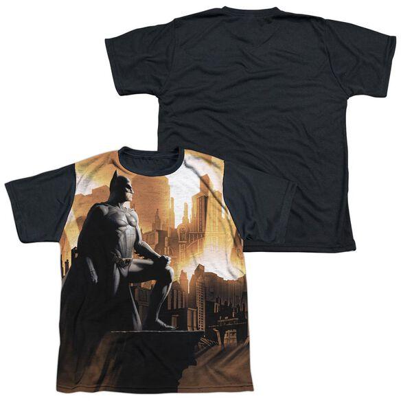 Batman Begins My City Short Sleeve Youth Front Black Back T-Shirt