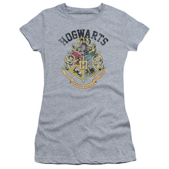 Harry Potter Hogwarts Crest Hbo Short Sleeve Junior Sheer Athletic T-Shirt