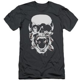 GREEN LANTERN BLACK LANTERN SKULL - S/S ADULT 30/1 - CHARCOAL T-Shirt