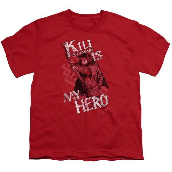 The Hobbit Kili Is My Hero Short Sleeve Youth T-Shirt