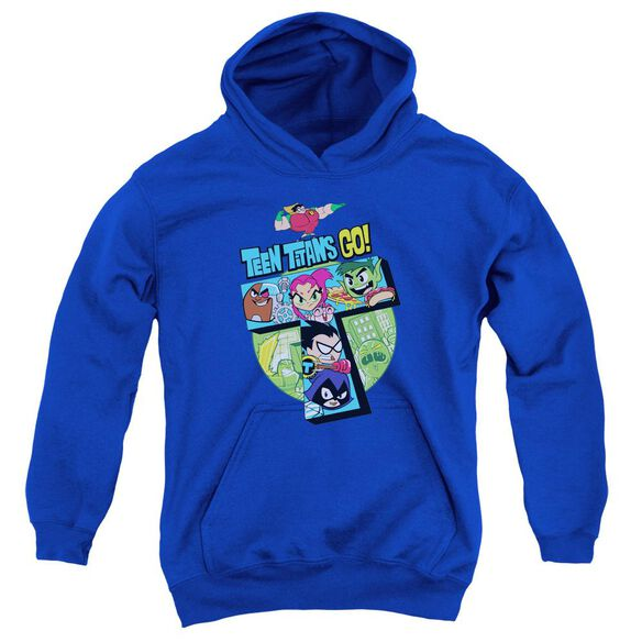 Teen Titans Go T Youth Pull Over Hoodie Royal