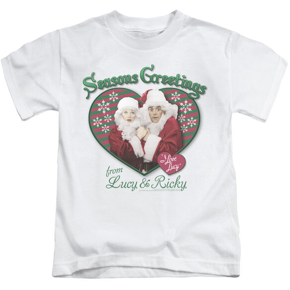 I LOVE LUCY SEASONS GREETINGS - S/S JUVENILE 18/1 - WHITE - T-Shirt