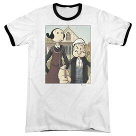 Popeye Popeye Gothic - Adult Ringer - White/black