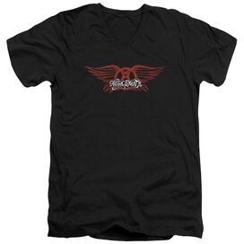 Aerosmith Winged Logo Short Sleeve Adult V Neck T-Shirt