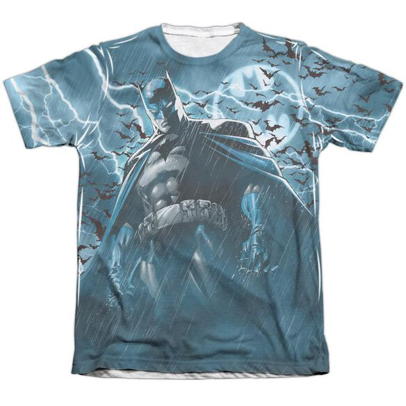 Batman Stormy Knight Adult 65 35 Poly Cotton Short Sleeve Tee T-Shirt