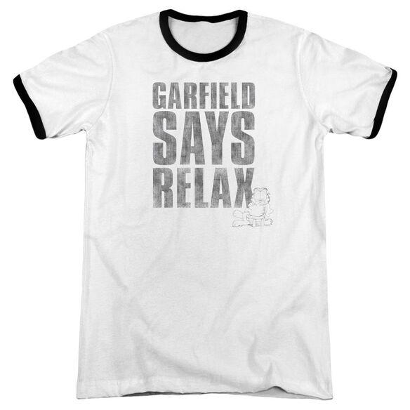 Garfield Relax Adult Ringer White Black