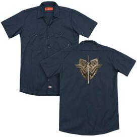 Wonder Woman Movie Sword Emblem (Back Print) Adult Work Shirt