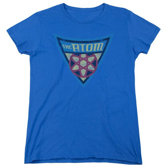 Batman Bb The Atom Shield Short Sleeve Womens Tee Royal T-Shirt