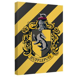 Harry Potter Hufflepuff Crest Canvas Wall Art With Back Board