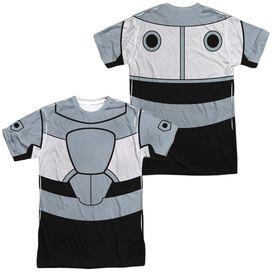 Teen Titans Go Cyborg Uniform (Front Back Print) Short Sleeve Adult Poly Crew T-Shirt