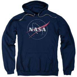 Nasa Distressed Logo Adult Pull Over Hoodie