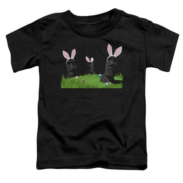 Easter Island Short Sleeve Toddler Tee Black T-Shirt