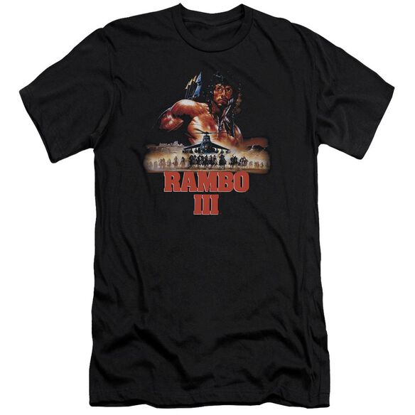 Rambo Iii French Poster Premuim Canvas Adult Slim Fit