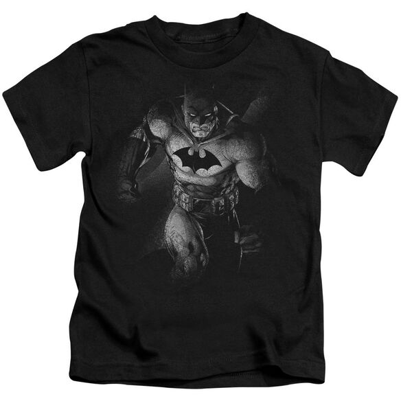 Batman Materialized Short Sleeve Juvenile Black T-Shirt