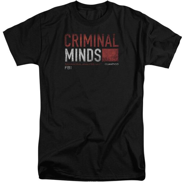 Criminal Minds Title Card Short Sleeve Adult Tall T-Shirt