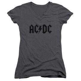 Acdc Worn Logo Junior V Neck T-Shirt