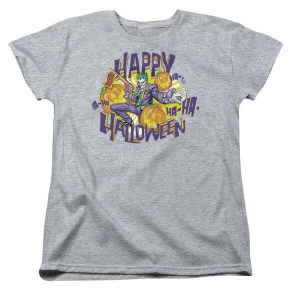 Batman Ha Ha Halloween Short Sleeve Womens Tee Athletic T-Shirt