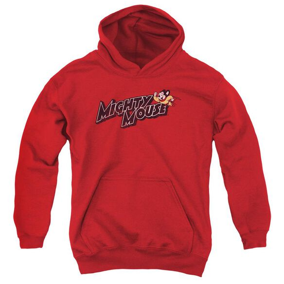 Mighty Mouse Might Logo Youth Pull Over Hoodie