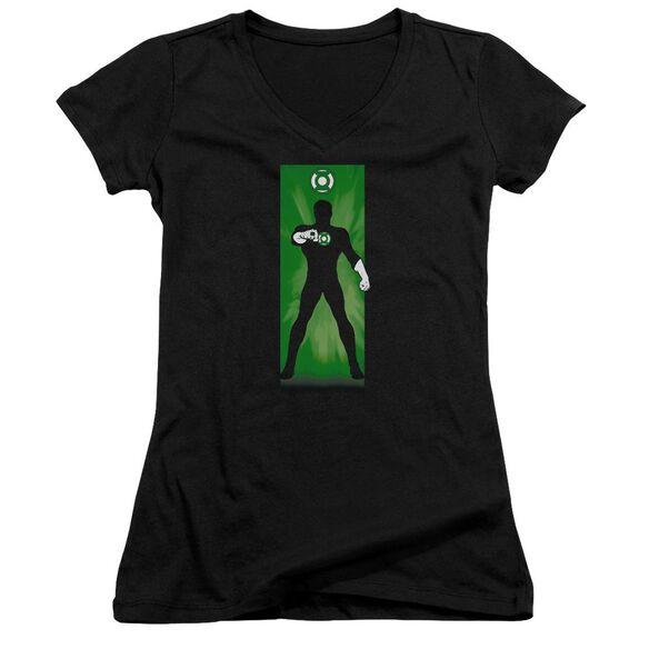 Dc Green Lantern Block Junior V Neck T-Shirt