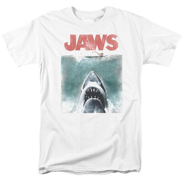 Jaws Vintage Poster Short Sleeve Adult T-Shirt
