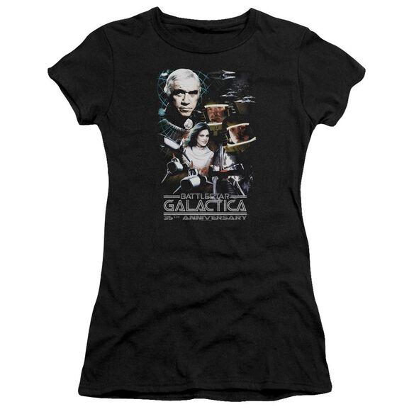 BSG 35TH ANNIVERSARY COLLAGE - S/S JUNIOR SHEER - BLACK T-Shirt