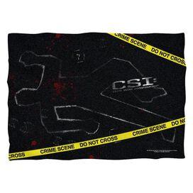 Csi Outline Pillow Case White